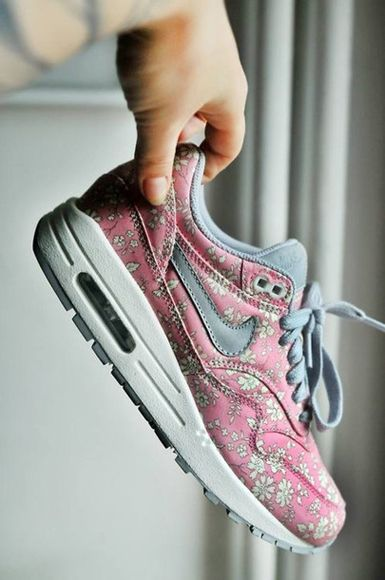 Nike Air Max 1 Hyperfuse Premium Grey Pink Shoes