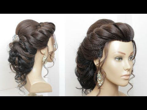 Beautiful Hairstyle For Wedding Party Function Bridal Updo Youtube Hair Styles Long Hair Updo Wedding Hairstyles Tutorial