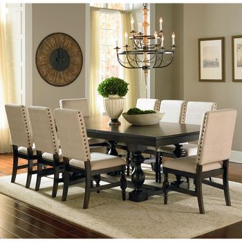 Carmel 9Piece Dining Set  Similar Structure To Rr Chairsgood Amazing Large Dining Room Set Inspiration