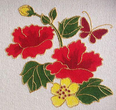 Embroidery stitch n paint [stitch, paint, then stitch again!]