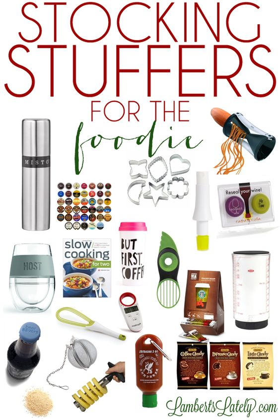 101 Unique Stocking Stuffers for Women...great list of different ideas for a woman, broken into categories (crafter, beauty guru, athlete, etc.).  Great resource!