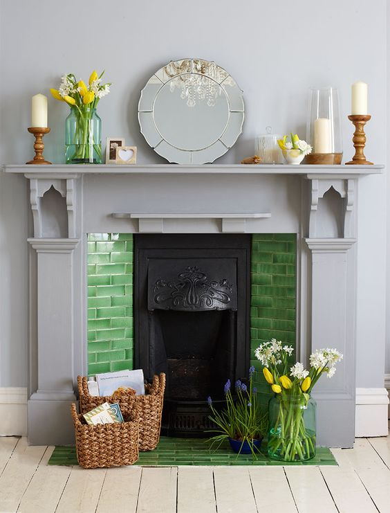 Creative ways to decorate a non-working fireplace