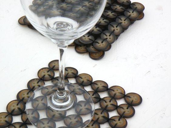 Schottisches Hochland Knopf-Untersetzer von P8 Accessories & Button Art auf DaWanda.com