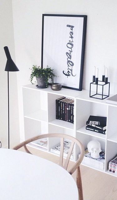 Style your bookshelf with art.