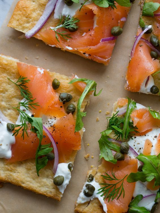 Our Best Ever Smoked Salmon Pizza- Makes 2 pizzas Ingredients: basic pizza…
