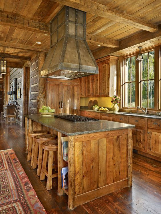 Custom Kitchen Islands with Cooktops | rustic kitchen island with cooktop CAJLTMzi