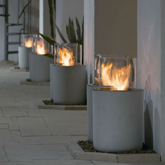 Removable real flame indoor outdoor garden dinning gel bio for Gel alcohol fireplace