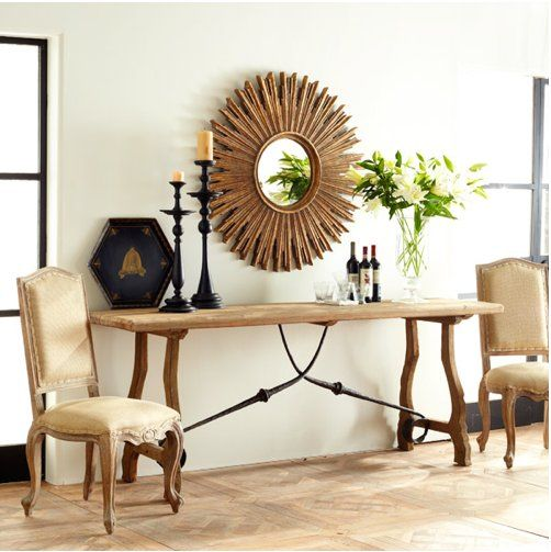 This Sunburst On the Scene Mirror ($300) is a great size.