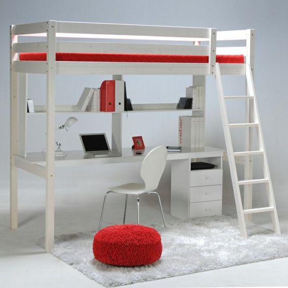 lit mezzanine conforama en bois blanc meubles denfant ikea lit mezzanine - Lit Estrade Conforama