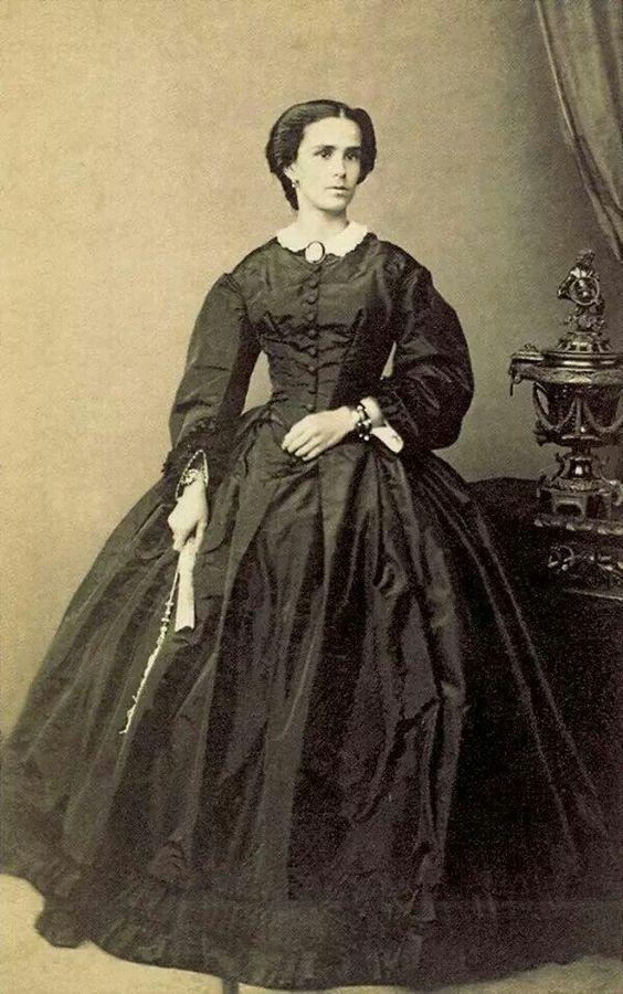 Mariquinha Junqueira, wifer of Counsrlor Junqueira. Brazil 1860.: