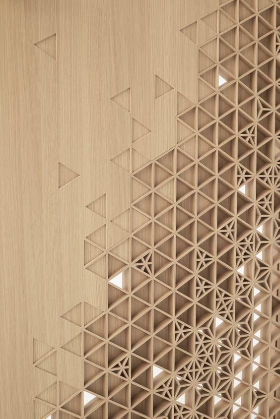 Inspiracion celosia ceramica Seven Doors Nendo repense la porte pour Abe Kogyo