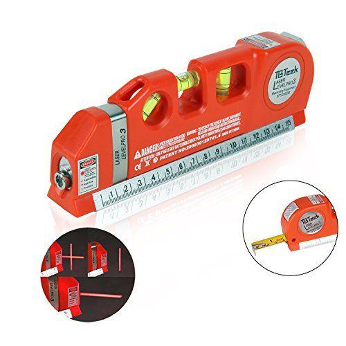Tbteek Multipurpose Line Laser Level Tape Measure 8ft25m Adjusted Standard And Metric Rulers Laser Horizon Vertical Measure L Laser Levels Tape Measure Metric