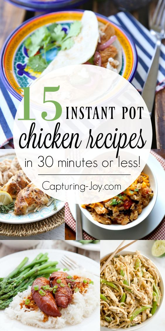 Grab some chicken and your instant pot, because I've got a bunch of Instant Pot Chicken Recipes to share today. When I'm in a rush for dinner time, grabbing some frozen chicken is often the first… Continue Reading