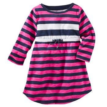 2-Piece Striped Babydoll Dress