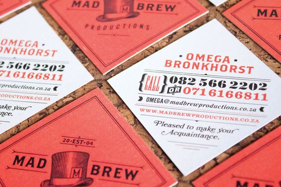 Love the brand and typography in these coasters by Adam Hill.