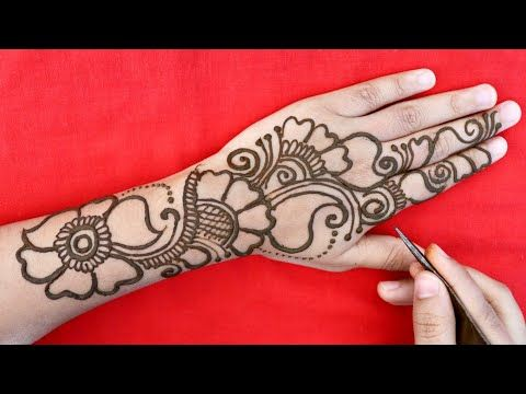 Back Hand Arabic Mehndi Design Easy