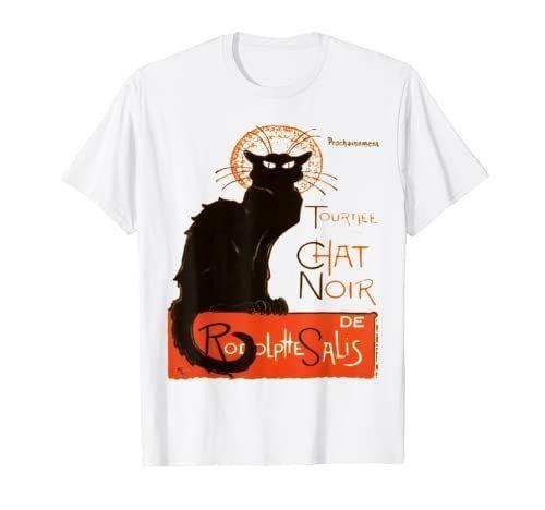 Wardrobeessential Steinlein Tshirt Tourneeduchatnoir Rodolphesalis Tshirt Chatnoir Lechatnoir Blackcat Tournee Du Chat Noir T Shirt T Shirts For Women