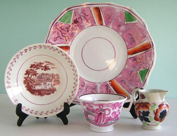 Pink Lusterware