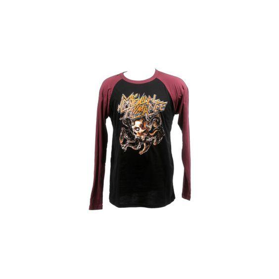 Medusa Raglan | My Chemical Romance ($9.99) ❤ liked on Polyvore featuring tops, mcr, shirts, raglan sleeve shirts, raglan sleeve top, medusa shirt, raglan top and raglan shirts