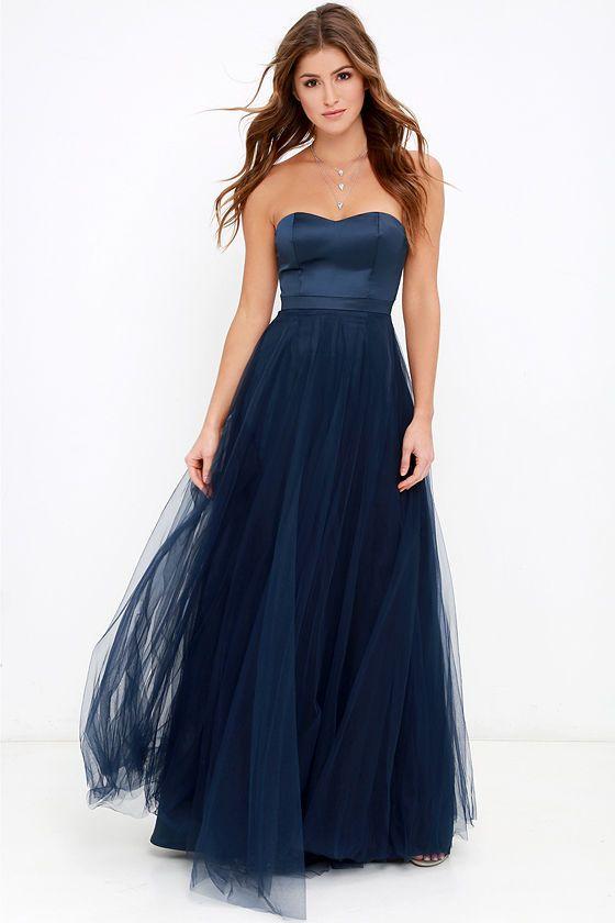 Dance of Dalliance Navy Blue Maxi Dress - Pinterest - Trendy tops ...