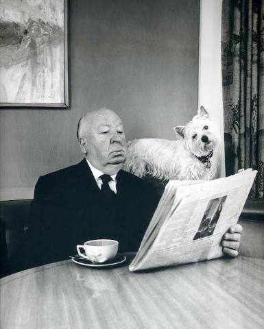coffee break + Alfred Hitchcock.