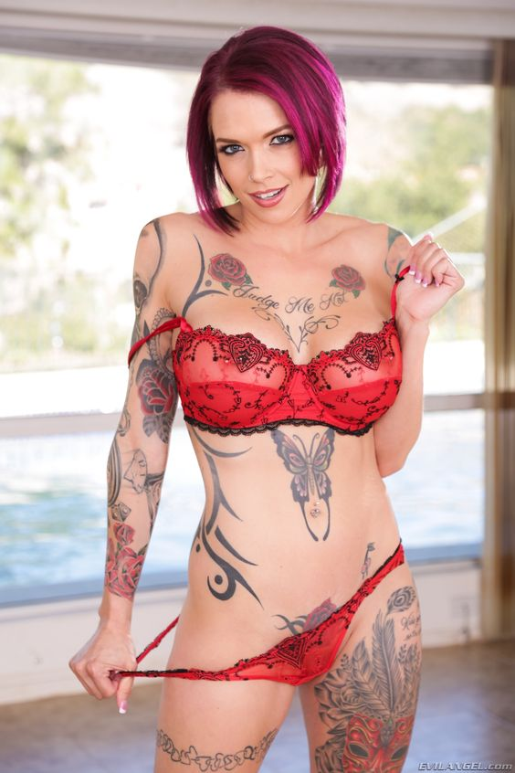 tattooed porn star Huge boobs tattooed pornstar Monique Alexander gives a nice sloppy blowjob  and likes getting pounded on the bed.