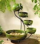 Green bowl fountain