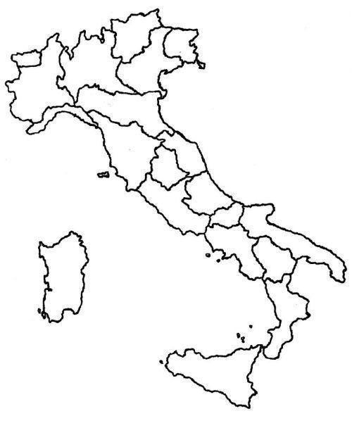 Cartina Muta Delle Regioni Ditalia.Cartina Muta Fisica E Politica Dell Italia Online Da Stampare Piuscuola Mappa Dell Italia Muta Forme Di Apprendimento