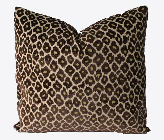 Decorative Velvet, Animal Brown Leopard Pillow Cover, 18x18, 20x20, 22x22 or Lumbar, Throw ...