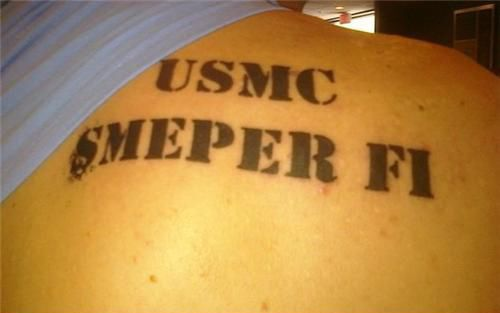 Bad Tattoo    Semper FI