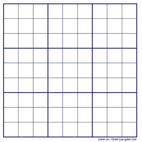 Sudoku Leer Vorlage Raster Leere Vorlagen 15