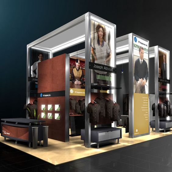Exhibition Booth Structure : Lumiture internally lit structure is a modular system for