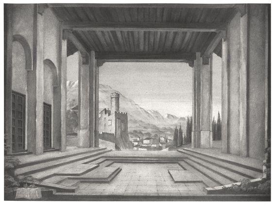 """ Palestrina "" 2.Akt Berlin Staatsoper 1940 Entwurf"
