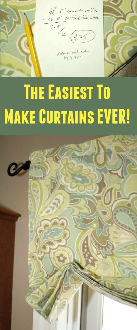 How To Make The Easiest Curtains Ever Easy Curtains