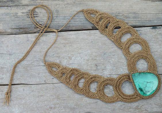 Malachite necklace, Boho Unique necklace Short necklace Balance necklace Egyptian Statement necklace January Birthstone Green stone necklace