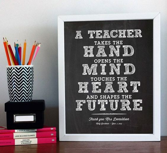 Dont forget your teachers. They help to grow our little ones minds. They deserve a medal...or this cute print as a gift for end of year. Search 'personalised teacher print' on dtll.com.au or click on the shopable link in our profile to buy #dtll #downthatlittlelane