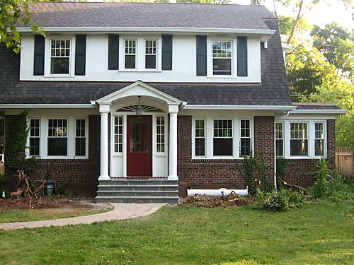 Landscaping for colonial homes for a progression of for Colonial entry door