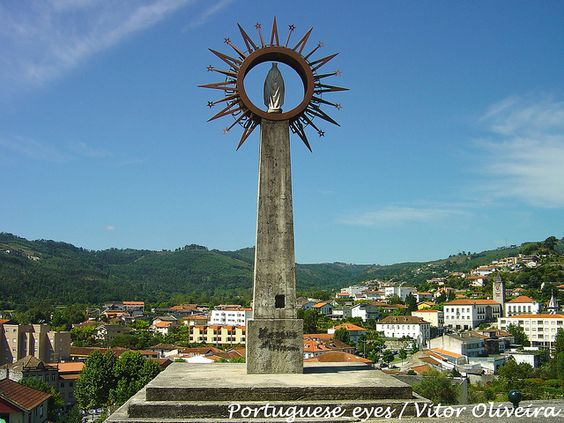 """Escultura """"Era uma Senhora mais brilhante que o Sol"""" - Póvoa de Lanhoso - Portugal by Portuguese_eyes, via Flickr"""