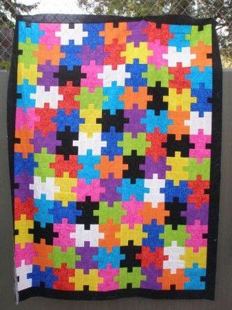 Jigsaw Puzzle Quilt Quilting Pinterest Quilt Jigsaw