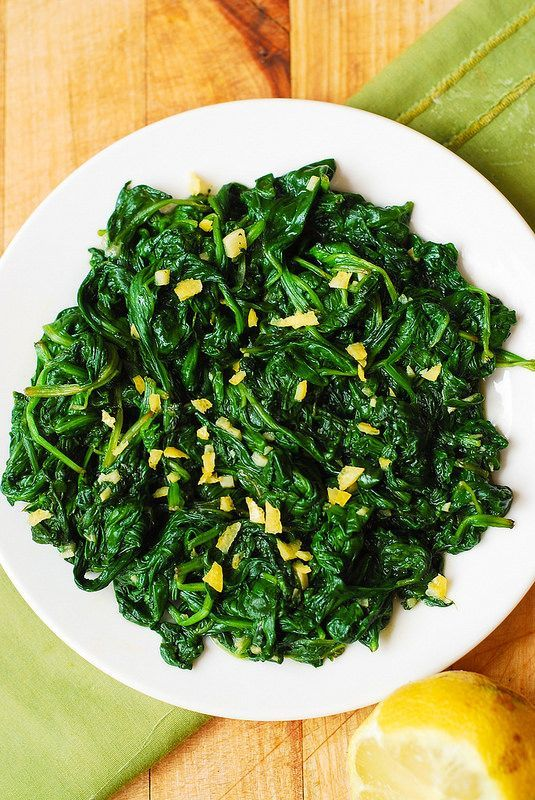 how to cook up spinach for a side dish