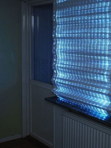 Energy Curtain Absorbs Energy From Sun During Day And