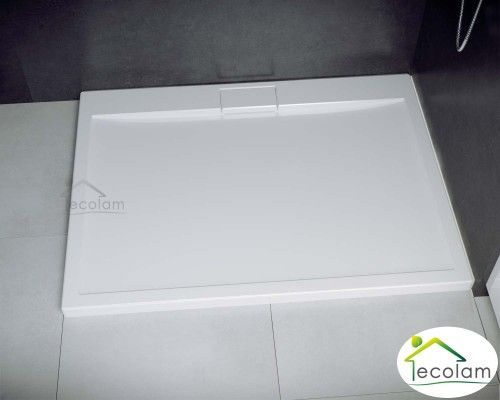 Duschwanne Rechteck Mit Abdeckplatte 100 X 90 X 4 5 Cm Axim Flach