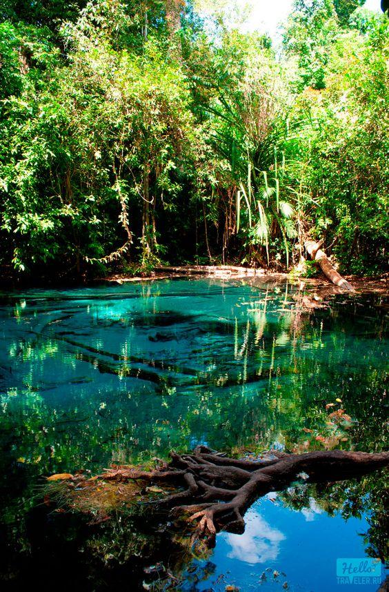 Blue Pool, Krabi, Thailand.