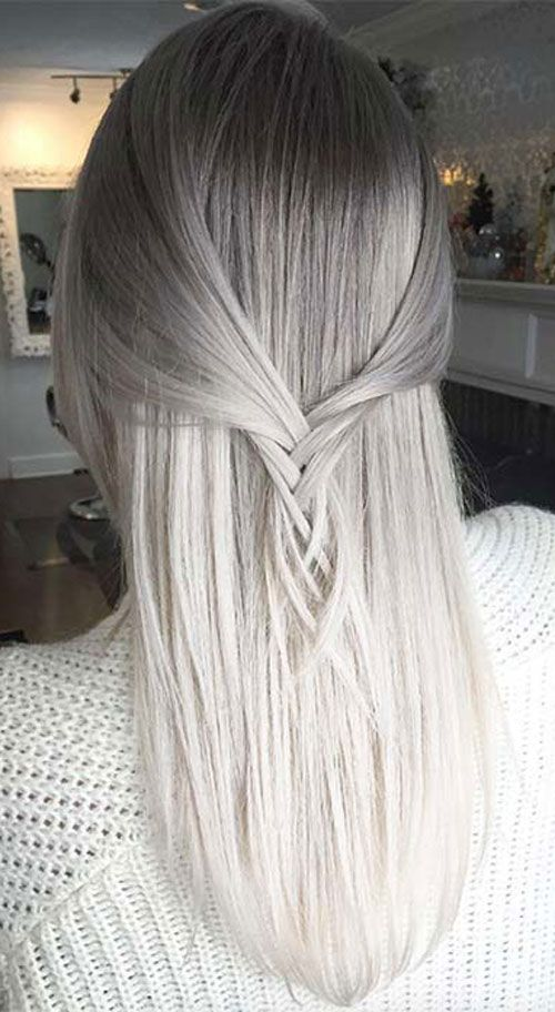 Best Ombre Hairstyles Blonde Red Black And Brown Hair Grey