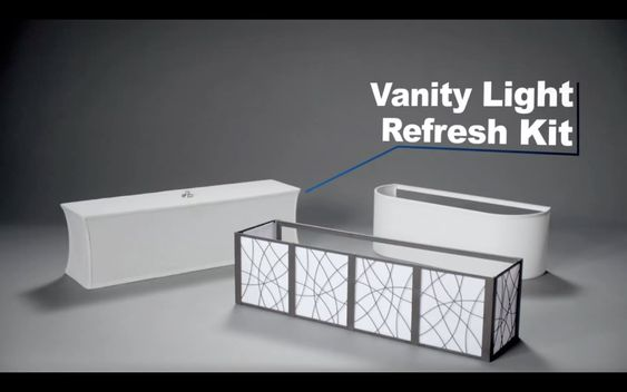 5 Light Vanity Refresh Kit : If you ve ever thought about replacing your Hollywood-style bathroom light fixture, you likely ...