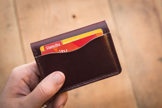 Burgundy 5 Card Leather Wallet