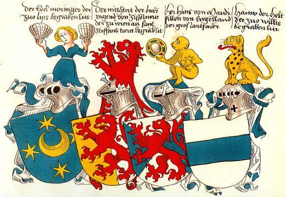 Die Helmzier, Vortrag auf der Gilde der Zürcher Heraldiker, Beispiele aus Conrad Grüneberg's Wappenbuch