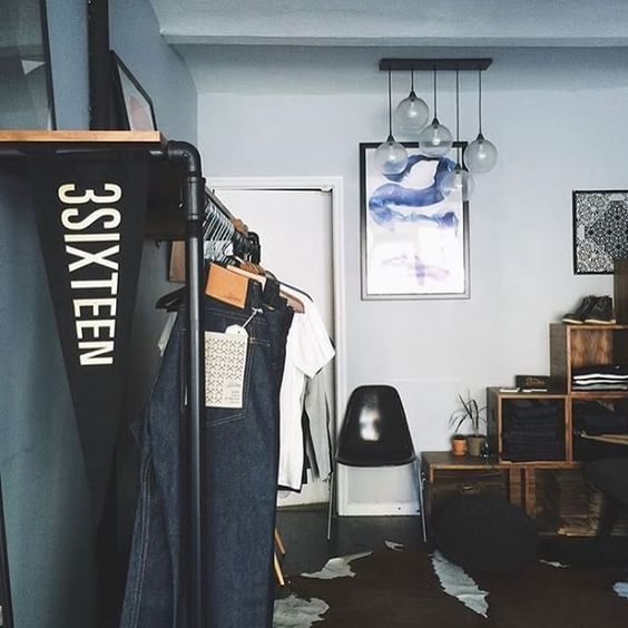 Our 2015 @libertyfairs allblack pennants on display at @3sixteen's NYC showroom. by oxfordpennant