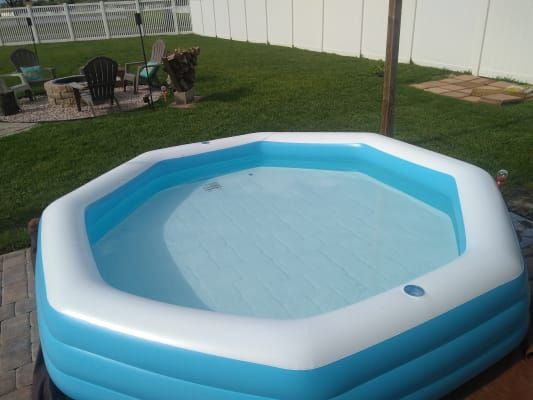 Summer Waves 10 Octagonal Inflatable Family Pool Big Lots Family Pool Blow Up Pool Inflatable Pool