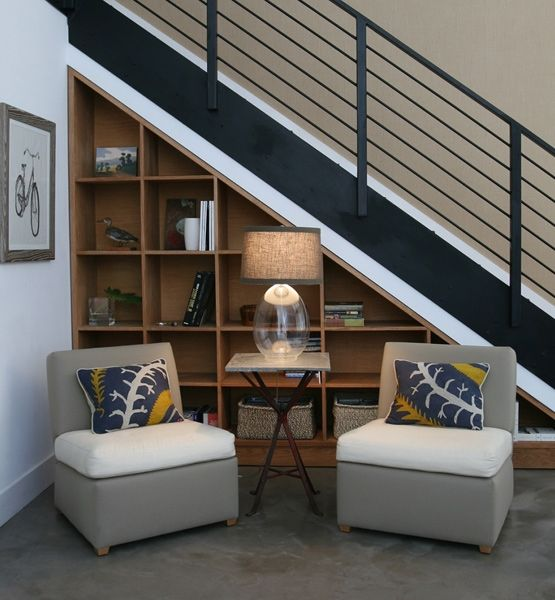 nook: Built In, Under Stair, Understair, Storage Idea, House Idea, Stairs Idea, Shelving Idea
